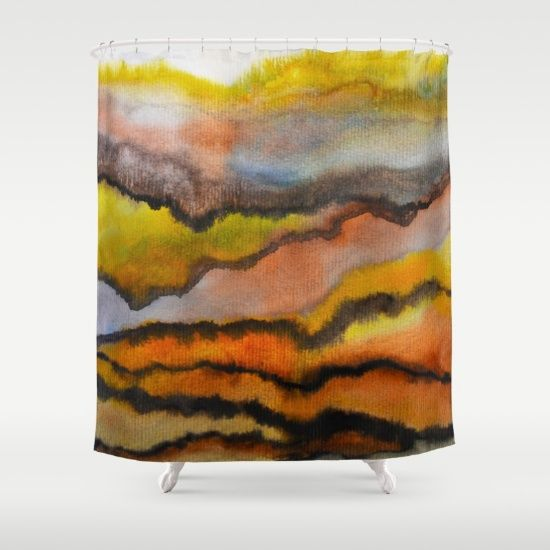 Customize your bathroom decor with unique shower curtains designed by artists…