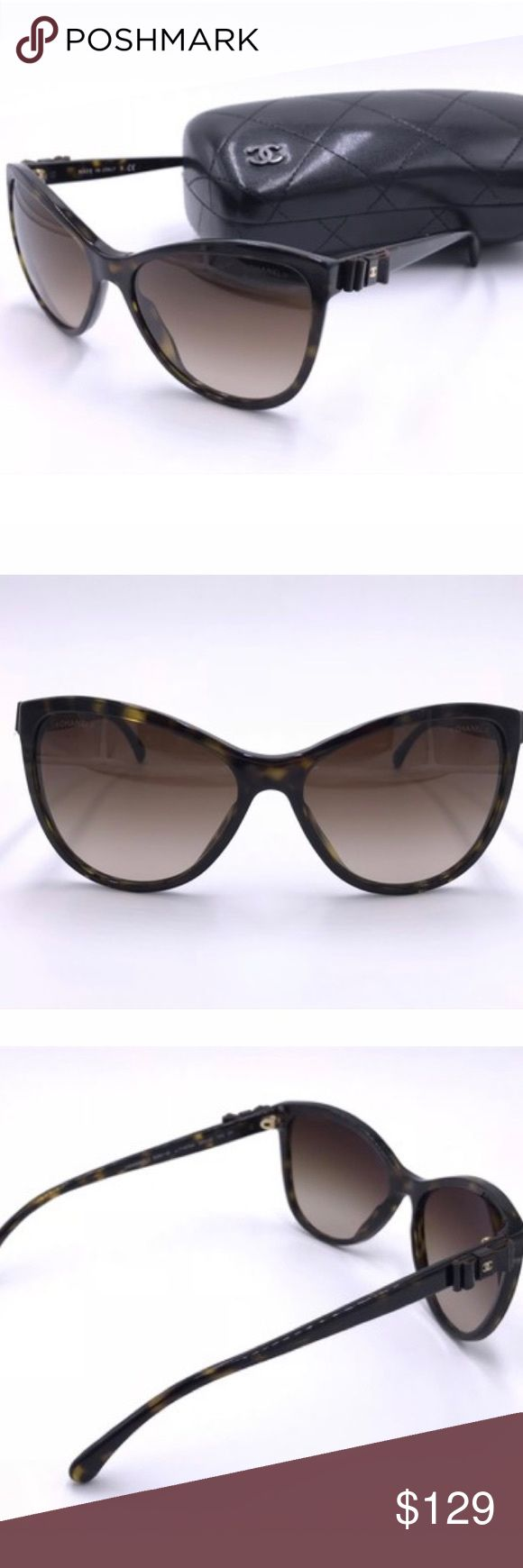"""Chanel Brown Tortoise 5281q Cat Eye Sunglasses Chanel Brown Tortoise Cat Eye 5281q C.58-16 140 Sunglasses 1""""L x 1""""H x 1""""W Sunglasses are in great shape except for a small scratch in the center of the right lense as seen in the last picture. Other than that they look brand new and absolutely fabulous. The frame is very clean. CHANEL Accessories Sunglasses"""