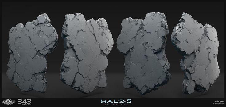 Halo 5 environment , robin benes on ArtStation at https://www.artstation.com/artwork/ZoOqw