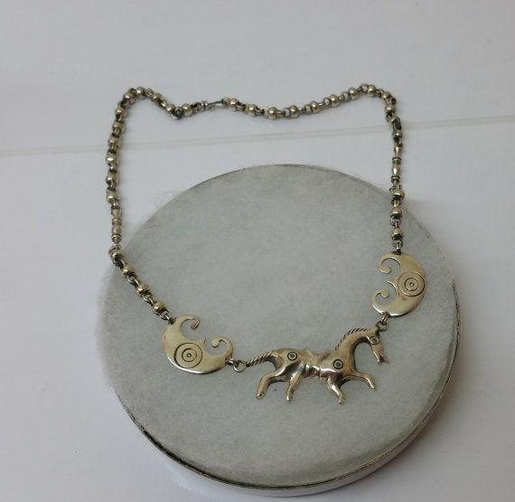 Kette Silber 800 Halskette Pferd Collier alt SK988 von Schmuckbaron