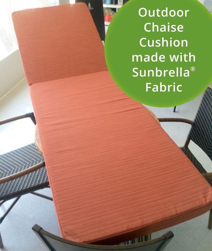 Custom Chaise Cushion Sunbrella Fabric Part 90