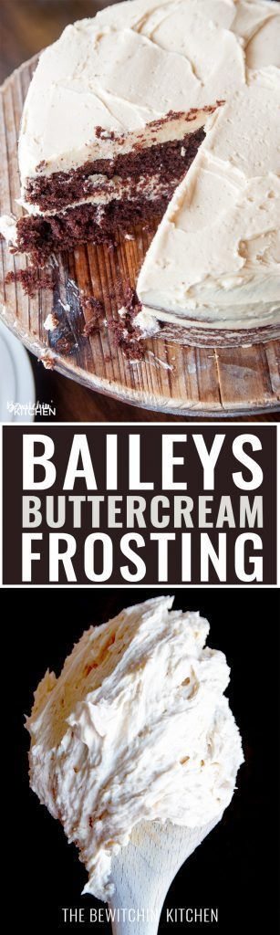 Baileys Buttercream Frosting. Best frosting recipe ever! This creamy cake icing…