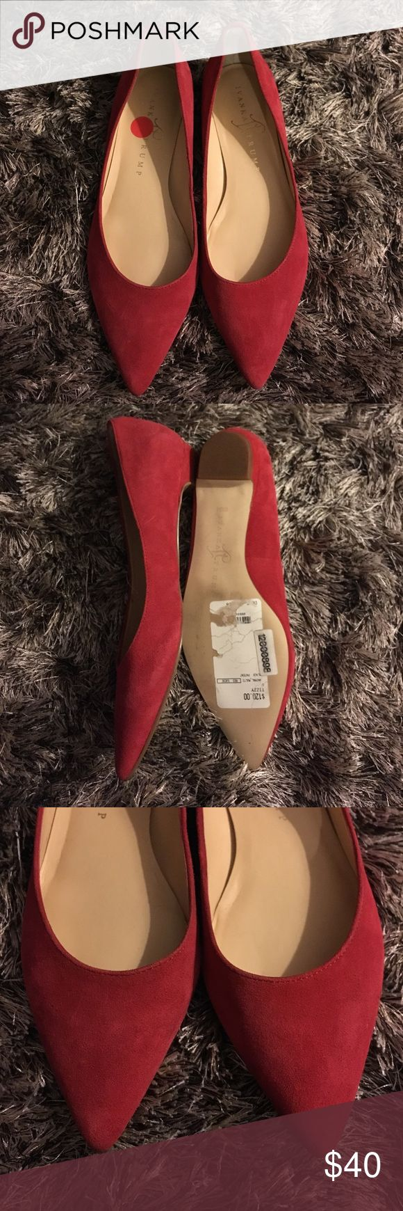 Brand New Ivanka Trump flats Brand new suede pointed toe ballet flats. Ivanka Trump Shoes Flats & Loafers