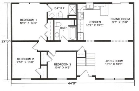 Floor plans for raised ranch style homes google search for Raised ranch floor plan