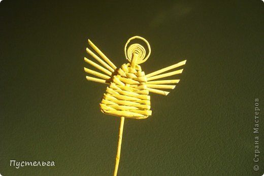 """На новогодней благотворительной ярмарке """"Душевный базар"""" все, кто пришёл на мастер-класс, хотели сделать маленького ангела. Я научилась делать его у Иры Далибожик из Львова. И теперь покажу вам...  фото 1"""