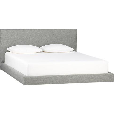 facade grey bed in bedroom furniture | CB2