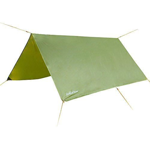 I just bought this and love it. theBlueStone Rain Tarp Shelter in 10 x 10 FT for Canopy Hammock Outdoor Camping, Ripstop Hammock Rain Fly . you can see what others said about it here http://bridgerguide.com/thebluestone-rain-tarp-shelter-in-10-x-10-ft-for-canopy-hammock-outdoor-camping-ripstop-hammock-rain-fly/