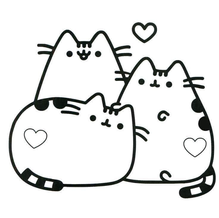 Free Pusheen Coloring Pages Drawing Pictures Pusheen Coloring Pages Cute Coloring Pages Cute Little Drawings