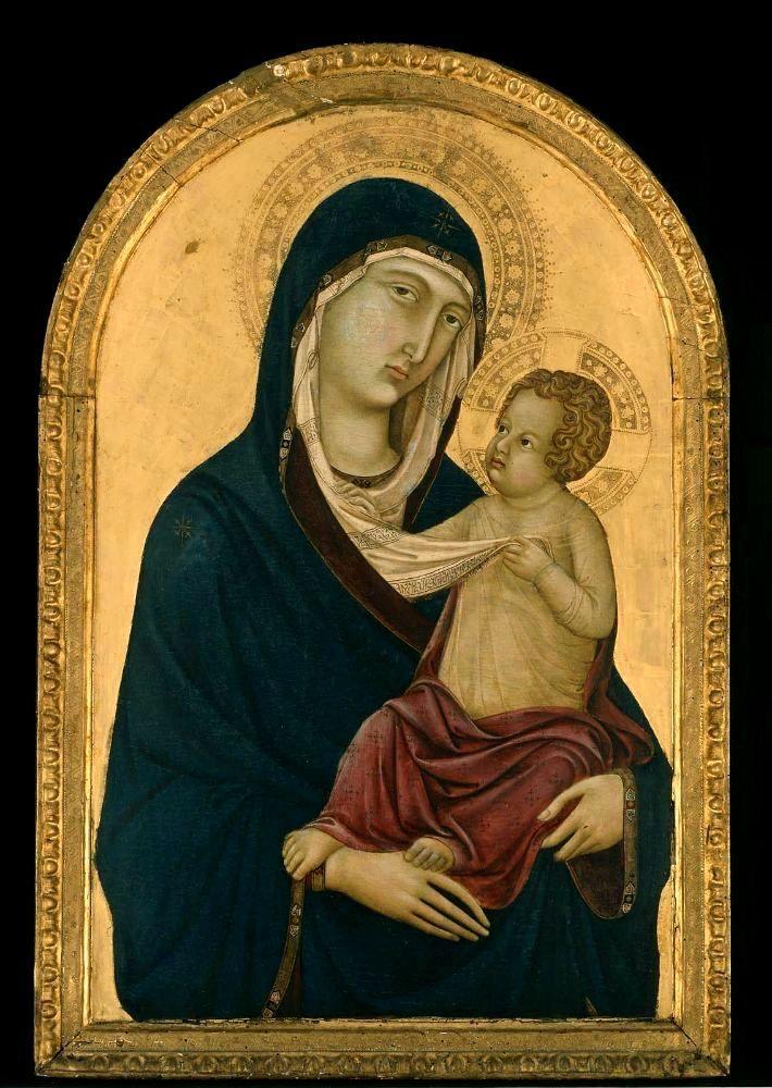 Уголино ди Нерио. Мадонна с младенцем. 1325-30. Музей изящных искусств, Бостон.