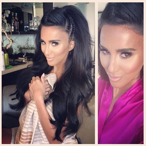 Lilly Ghalichi Half Up Half Down Hair