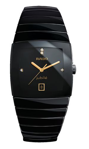 Rado Sintra Jubilé    High-tech ceramics, sapphire crystal, black, with 4 diamonds, Quartz movement, Date/Second, available in XXL-size, XL-size, L-size, S-size (S-size without Date)    Ref.No. 156.0723.3.071  PIC-Code: R13 723 71 2