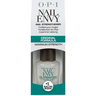 OPI Nail Envy Nail Strengthener Original Formula Completely nursed my nails back to health after getting my acrylics off. Best bet is on amazon.