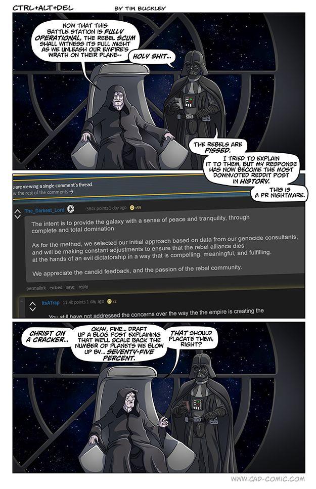The Empire Explains - Credit Tim Buckley www.cad-comic.com