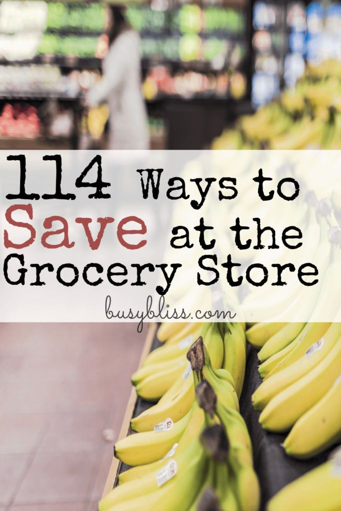 If you are trying to stick to a tight budget, learning how to save money on your families groceries is a must. This post has 114 ways for the frugal living mom to provide healthy meals (and many tips on how to do it without coupons!)