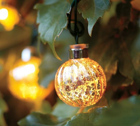 Glass String Lights Outdoor : Mercury Glass Globe String Lights USD 39.00 Free Shipping ... Globes of fluted, silvered glass shed ...