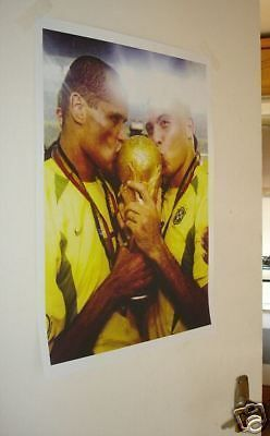 Brazil #ronaldo and #rivaldo kiss #world cup great poster,  View more on the…