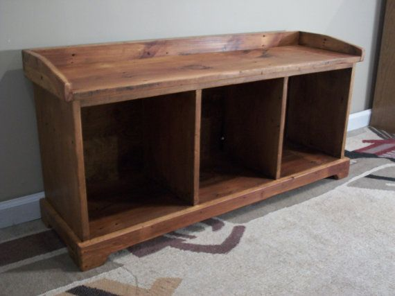 Reclaimed wood  Entryway Bench by craftsmanscorner on Etsy, $290.00