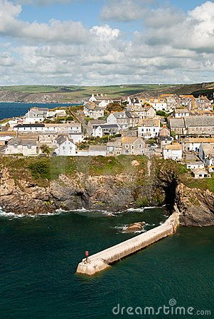 View of the village of Port Isaac in Cornwall - where Doc Martin is filmed