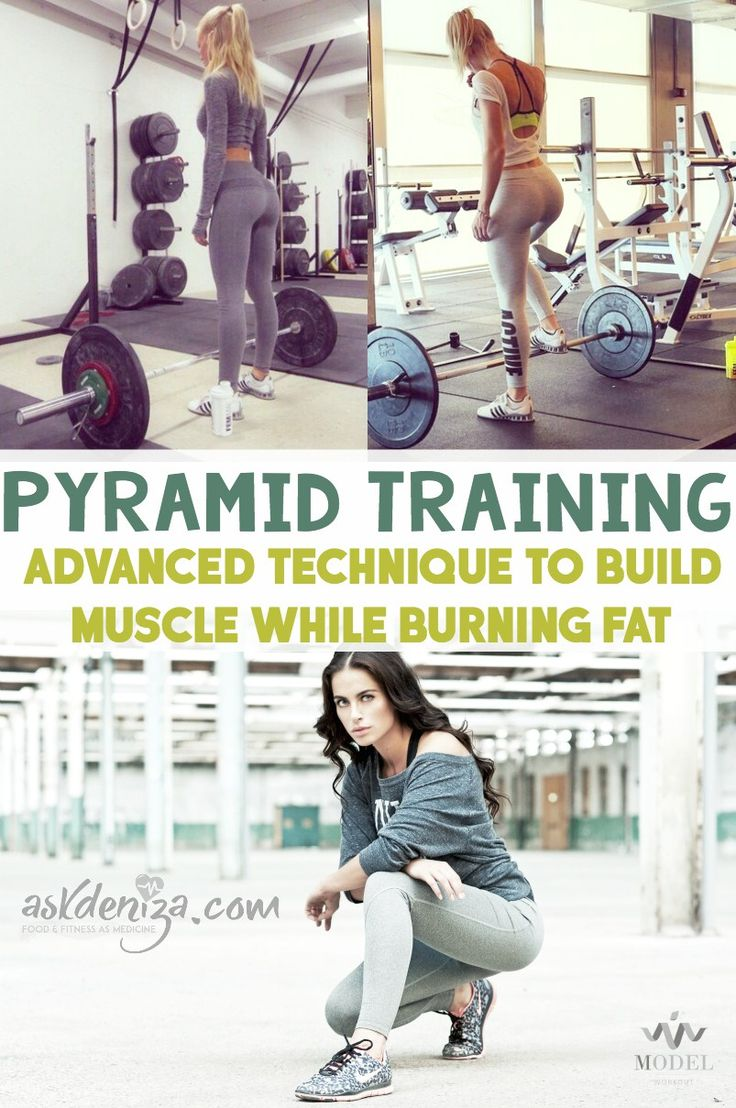 Try pyramid training styles if you want to build muscle while burning fat! 3…