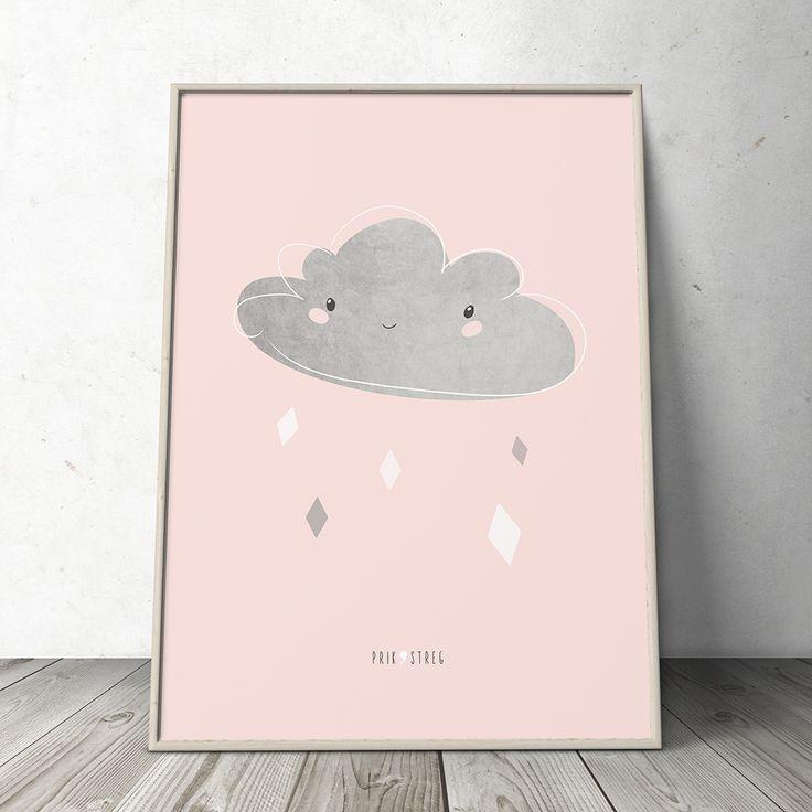 Lille sky plakat til børneværelset