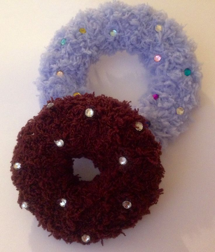 Fairy Kei Fuzzy Clip Donuts Two Size with Sprinkles on - by 742