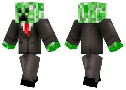 Business Creeper skin for Minecraft PE - http://minecraftpedownload.com/business-creeper/