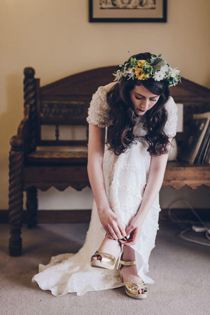 Edinburgh Gardens and Thornbury Theatre Rock n Roll Wedding by Lucy Spartalis - Maguba sandals