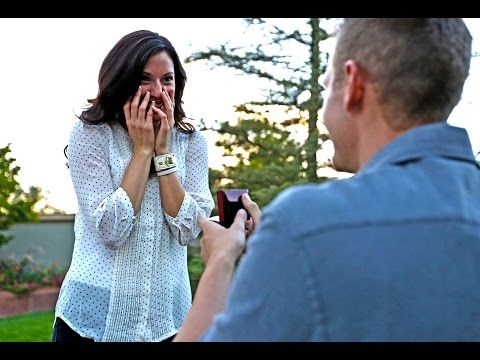 I love their story! It didn't cost him anything to propose but he made it special and he caught it on film and on camera!