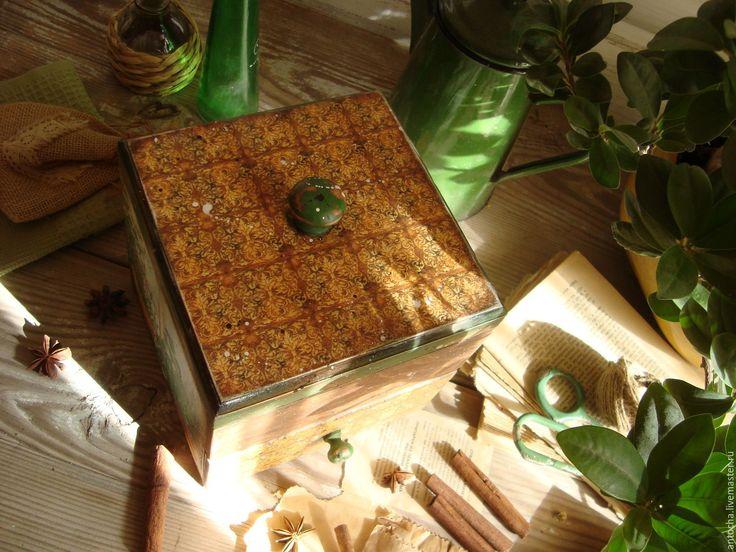 """Купить Комодик """"Травы Прованса"""" - комбинированный, комод, специи, комодик, прованс, кухня, ретро, винтаж"""