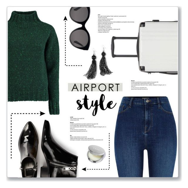 """Airport Style!"" by lilymillyrose ❤ liked on Polyvore featuring CalPak, River Island, Lowie, Gucci, Dolce Vita, Venus and airportstyle"