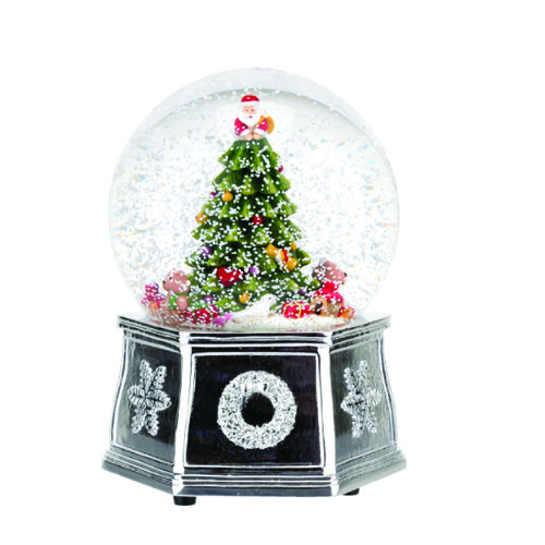 Spode Christmas Tree Tree Musical Snow Globe Size: 14cm Decorate your table with this Musical Snow Globe which features a wonderful Christmas Tree.