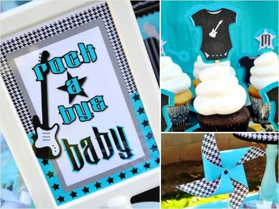 rockabilly baby shower ideas   24 Gorgeous Baby Shower Themes -- Food, Location & Activity Ideas ...