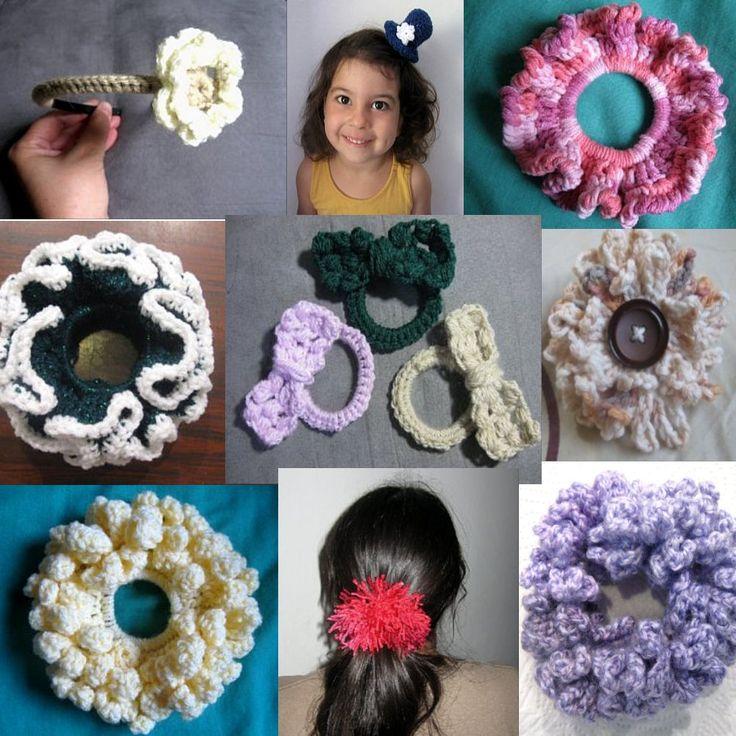 12 Scrunchie and Hair Accessories Crochet tutorials & patterns.