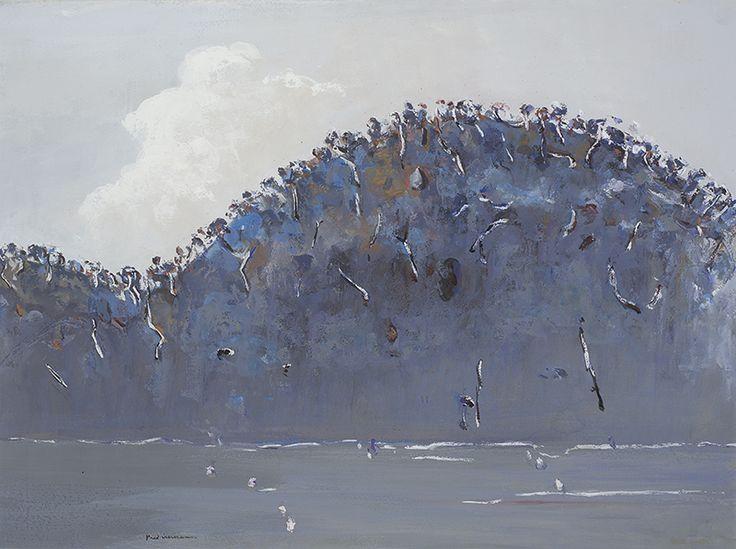 Fred Williams (Australian, 1927-1982), Lysterfield, c.1965-66. Gouache on paper, 56 x 75 cm.