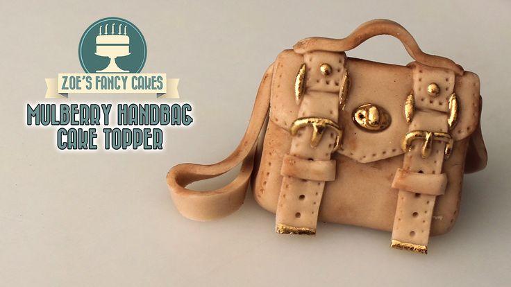 how to make handbag with fondant