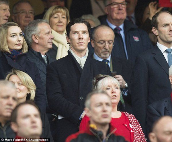 Ben at the Six Nations Rugby match earlier today. 12/3/16.