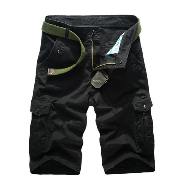 Multi color Men Cargo Army Short Pants, Men Casual Fashion Shorts, Military Shorts, No Belt