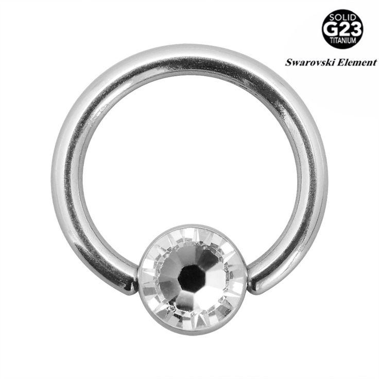 1 ШТ. 16 Г G23 Титана ЦБ РФ с Плоским Gem Ball BCR ЦБ Губная Губы Кольцо Кольца Тела ювелирные изделия Пирсинг