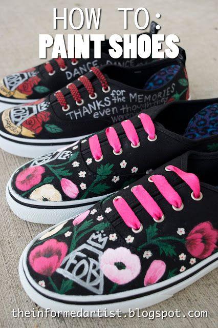 Paint Your Own Canvas Shoes
