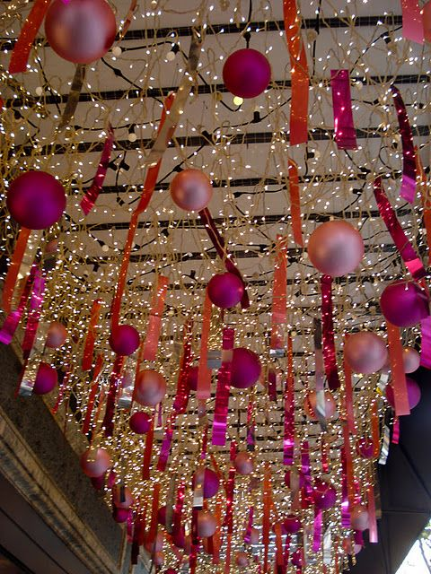 Cover the underneath or our patio cover with net lights!  Great holiday idea!!! Change out the decorations. hmmmm......