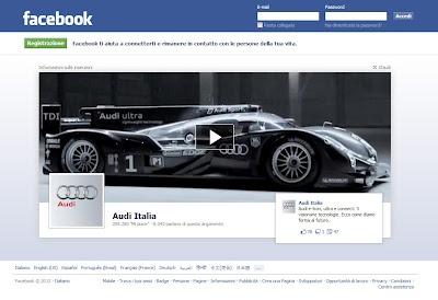 """I """"Logout ads"""" di Facebook,  annunci pubblicitari visibili all'uscita dal social network. Molto bello e d'impatto questo video di Audi Italia, vero?"""