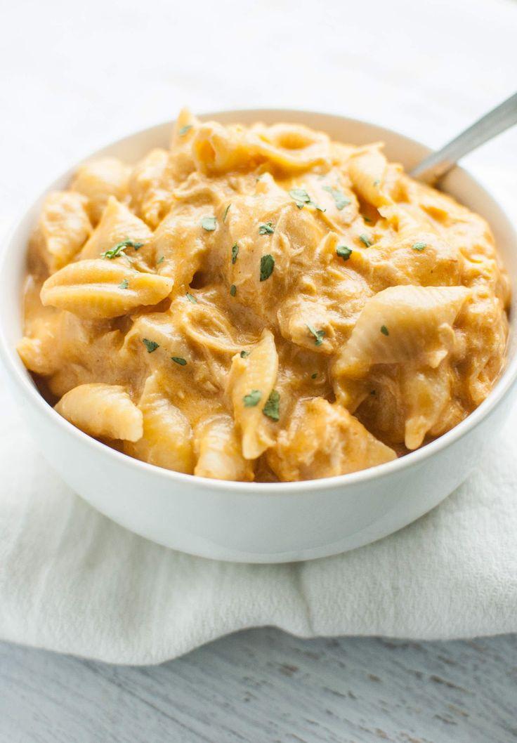 Slow Cooker Buffalo Chicken Mac & Cheese Recipe