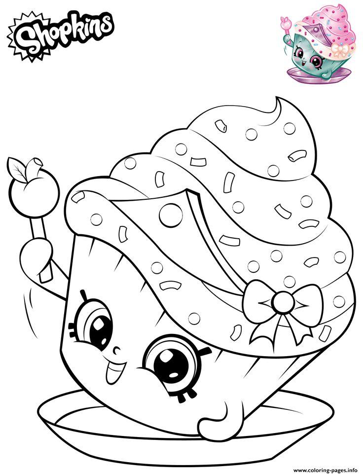 Print Shopkins Cupcake Princess coloring pages | Princess ...