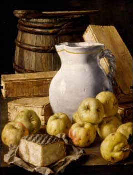 3. In the Eighteenth century the popularity of still lives declined in Spain, so that very few painters practised this genre. Among them, Luis Meléndez is probably the most important. He painted over 100 still lives in his lifetime, although he is not considered an inventor because his compositions follow his predecessors' style.