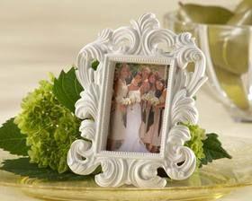 Kate Aspen White Baroque Elegant Place Card Holder/Photo Frame    #wedding #favor