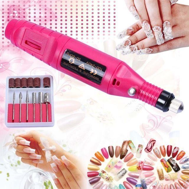 File Nail Art Electric Drill Acrylic Portable Manicure Pedicure Machine Kit #Nail #Beauty #woman #machine #healthcare