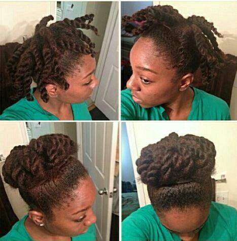 Fantastic 1000 Ideas About Twisted Bun On Pinterest Flat Twist Poetic Short Hairstyles For Black Women Fulllsitofus