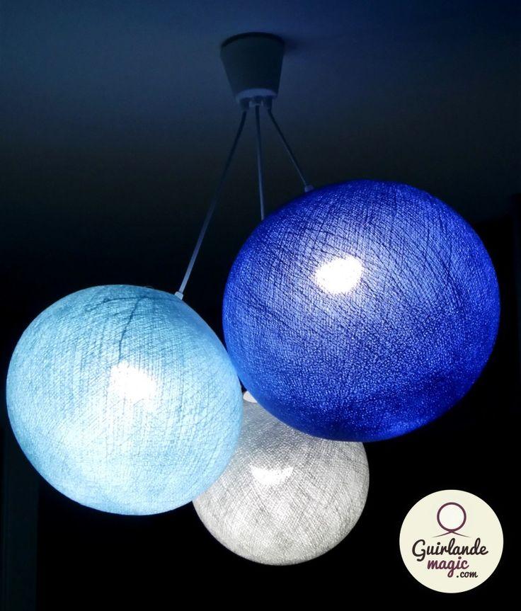 Luminaire Boules Suspension Luminaire Suspendu Blanc Maison Labarrere
