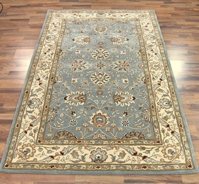 Tabriz duck egg blue rug
