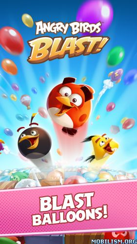 AB Blast v1.3.1 [Mod]Requirements: 4.1 and upOverview: Play an all-new Angry Birds tap-to-match game! The pigs have trapped the Angry Birds inside colorful balloons! Pop matching balloons to set the birds free and stop the pigs in this addicting...